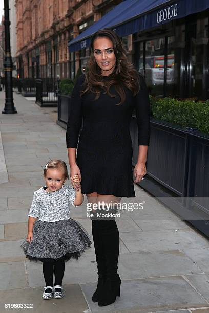 Tamara Ecclestone and daughter Sophia Ecclestone arriving for Tamara Gives Back at the George on Mount St on November 1 2016 in London England