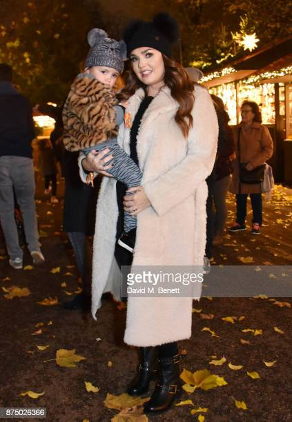 Tamara Ecclestone and her daughter Sophia EccelstoneRutland attend the VIP launch of Hyde Park Winter Wonderland 2017 on November 16 2017 in London...