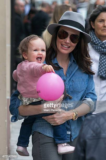 Tamara Ecclestone and her daughter Sophia EcclestoneRutland are seen strolling on the 'Rue SaintHonore' on May 4 2015 in Paris France