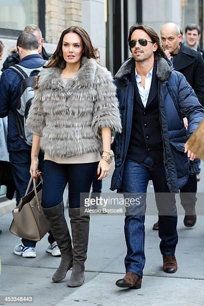Tamara Ecclestone and husband Jay Rutland are seen shopping in SoHo on December 3 2013 in New York City