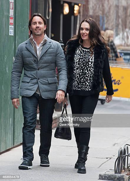 Tamara Ecclestone and husband Jay Rutland depart Serifino's in December 4 2013 in Manhattan NY