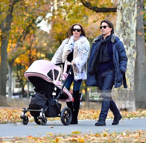 Tamara Ecclestone and Jay Rutland are seen in Central Park on November 19 2014 in New York City