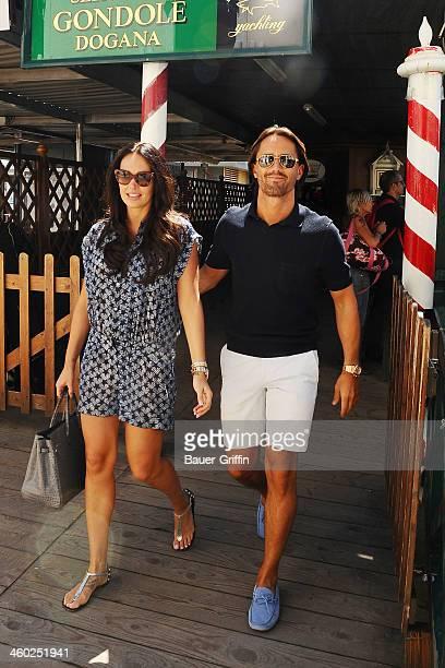 Tamara Ecclestone and Jay Rutland are seen on May 14 2013 in Venice Italy