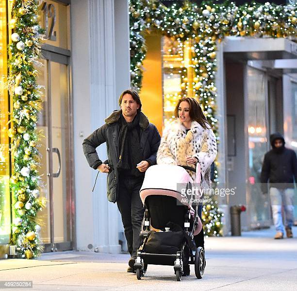 Tamara Ecclestone and Jay Rutland are seen shopping in Midtown on November 19 2014 in New York City