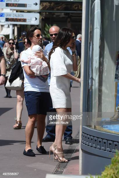 Tamara Ecclestone and Jay Rutland are seen with their new baby Sophia on day 8 of the 67th Annual Cannes Film Festival on May 21 2014 in Cannes France