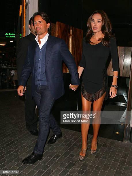 Tamara Ecclestone and Jay Rutland at Roka Mayfair restaurant on September 10 2014 in London England