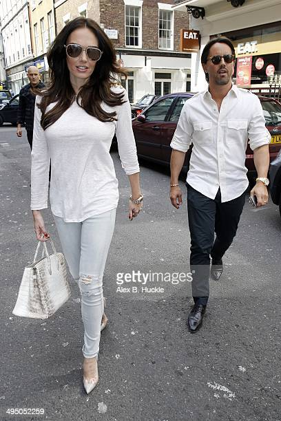 Tamara Ecclestone and Jay Rutland seen going to the Dover Street Arts Club for lunch on June 01 2014 in London England