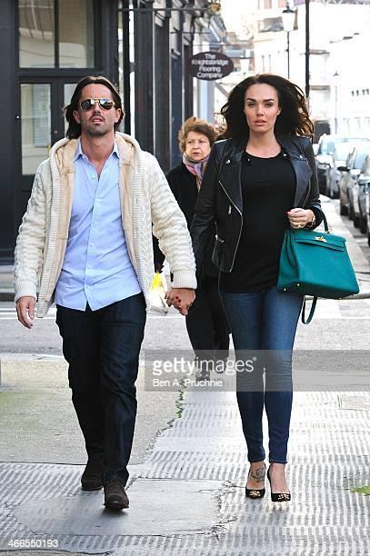 Tamara Ecclestone and Jay Rutland sighted in London on February 2 2014 in London England