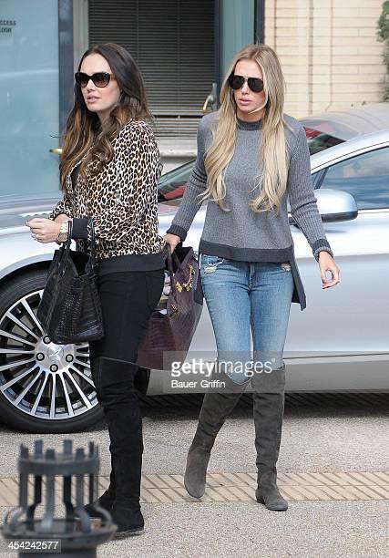 Tamara Ecclestone and Petra Ecclestone are seen on December 07 2013 in Los Angeles California