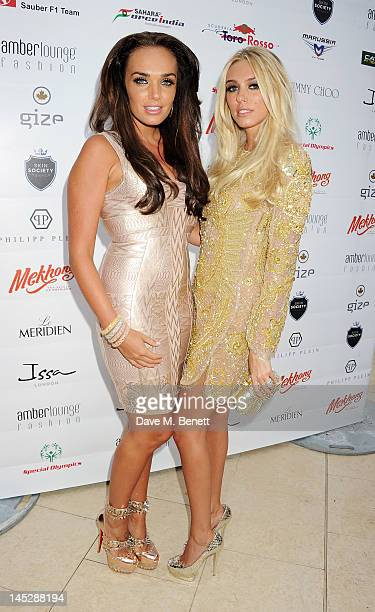 Tamara Ecclestone and Petra Ecclestone attend a cocktail reception during Amber Lounge Fashion Monaco 2012 at Le Meridien Beach Plaza Hotel on May 25...