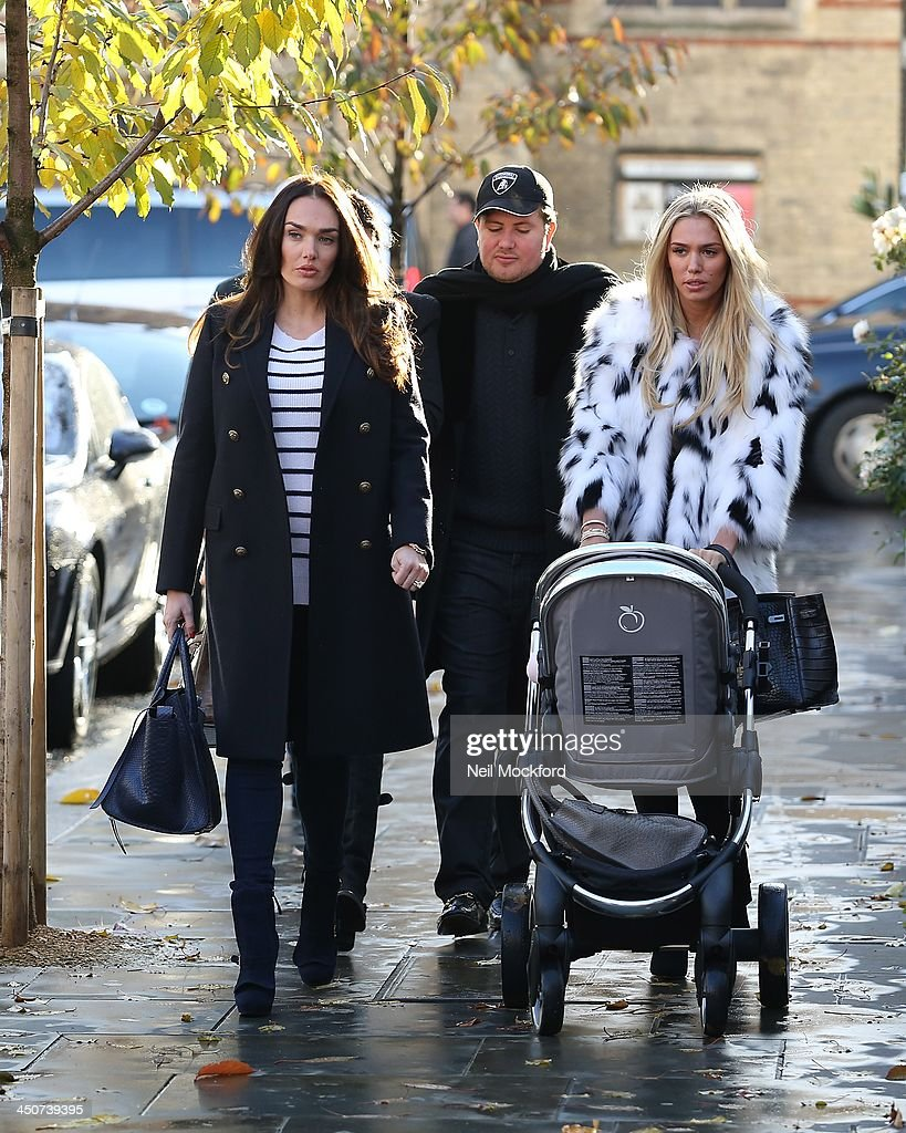 Tamara Ecclestone and Petra Ecclestone seen walking to Harrods on November 20, 2013 in London, England.