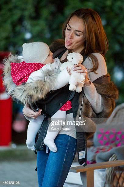 Tamara Ecclestone and Sophia EcclestoneRutland sighting on December 13 2014 in Gstaad Bern