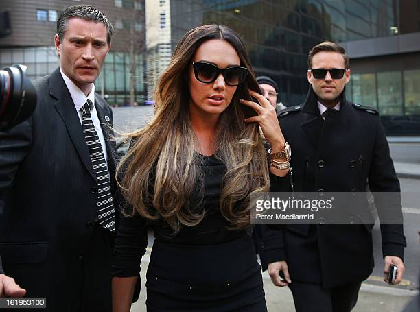 Tamara Ecclestone arrives at Southwark Crown Court on February 18 2013 in London England Derek Rose and Jakir Uddin are accused blackmailing Tamara...