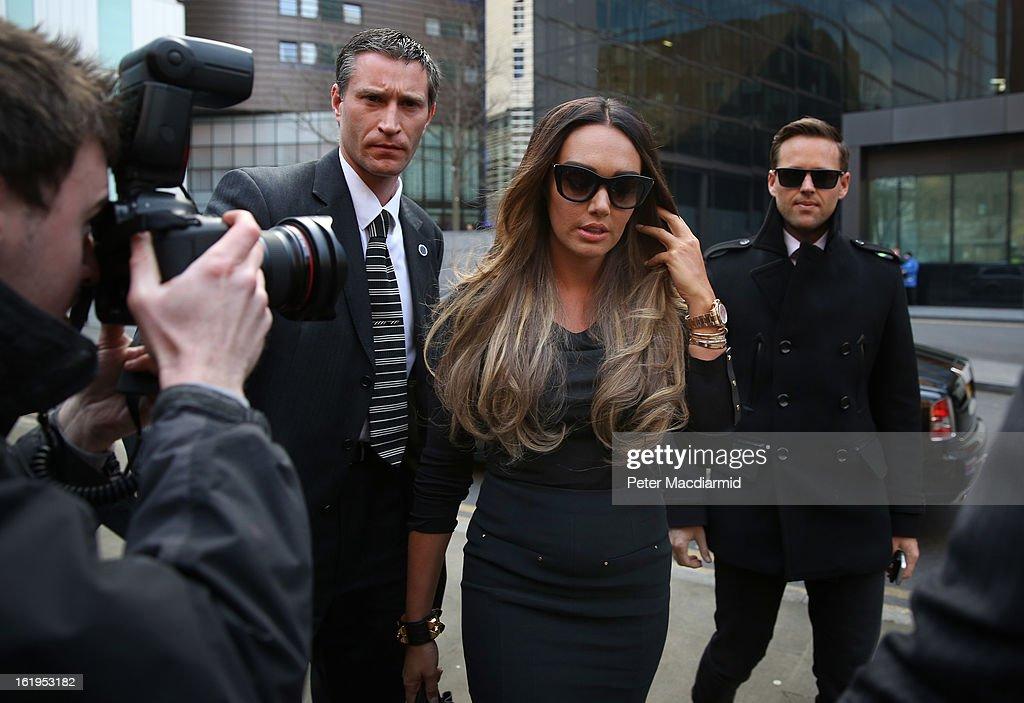 Tamara Ecclestone arrives at Southwark Crown Court on February 18, 2013 in London, England. Derek Rose and Jakir Uddin are accused blackmailing Tamara Ecclestone, daughter of Formula 1 boss Bernie Ecclestone, for £200,000.