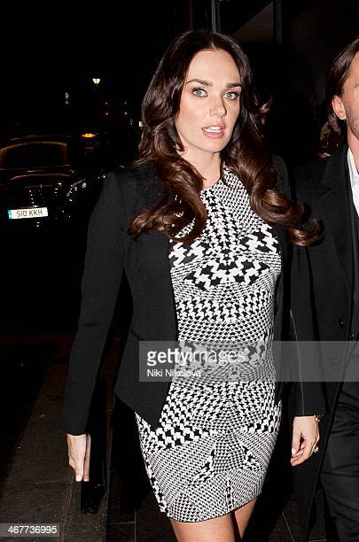 Tamara Ecclestone is seen arriving at the Continental hotel Park Lane on February 7 2014 in London England