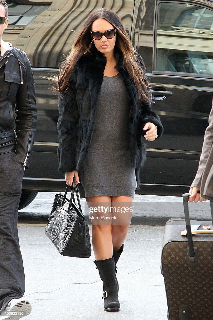 Tamara Ecclestone is sighted at 'Gare du Nord' on November 25, 2012 in Paris, France.