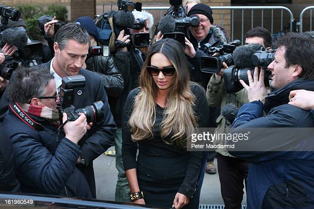 Tamara Ecclestone leaves Southwark Crown Court on February 18 2013 in London England Derek Rose and Jakir Uddin are accused blackmailing Tamara...
