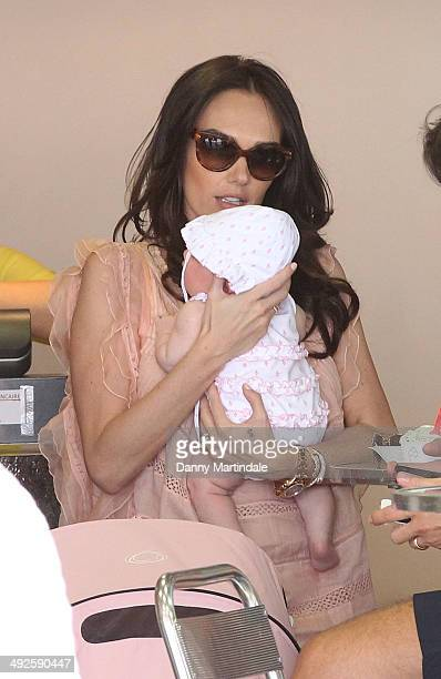 Tamara Ecclestone plays with her new baby Sophia on day 8 of the 67th Annual Cannes Film Festival on May 21 2014 in Cannes France