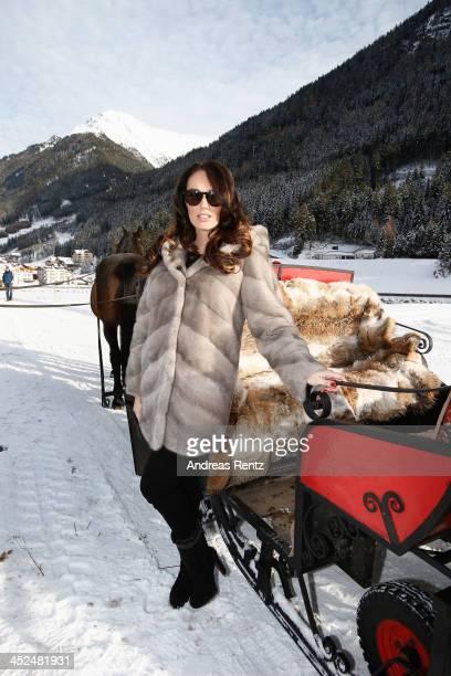Tamara Ecclestone poses on a carriage on November 29 2013 in Ischgl Austria