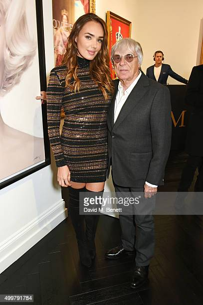 Tamara Ecclestone Rutland and Bernie Ecclestone attend the Maddox Gallery launch exhibition on December 3 2015 in London England