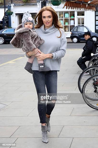 Tamara Ecclestone seen at The Chiltern Firehouse on February 3 2015 in London England