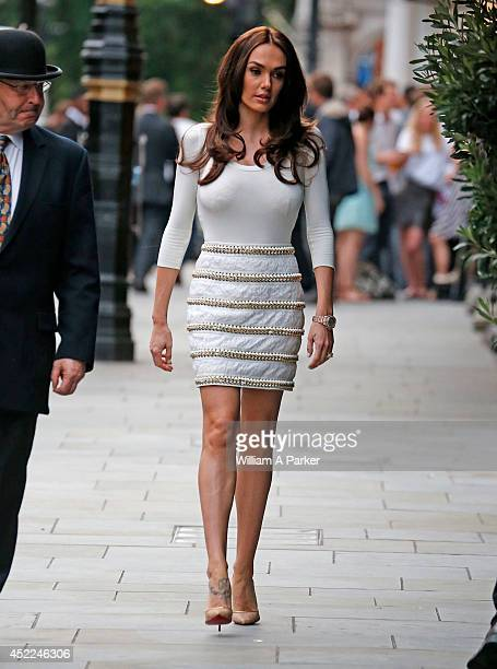 Tamara Ecclestone seen having dinner outside Scott's with a couple of friends on July 16 2014 in London England