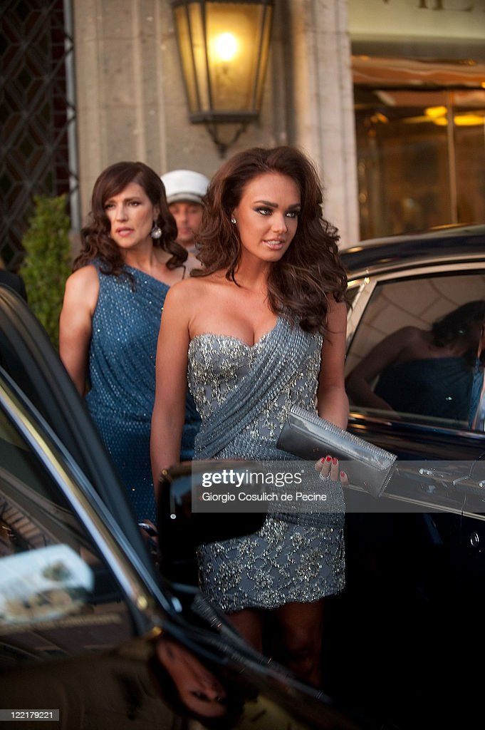 Tamara Ecclestone sighted leaving the Hassler Hotel ahead of the wedding of Petra Ecclestone and James Stunt on August 26, 2011 in Rome, Italy.