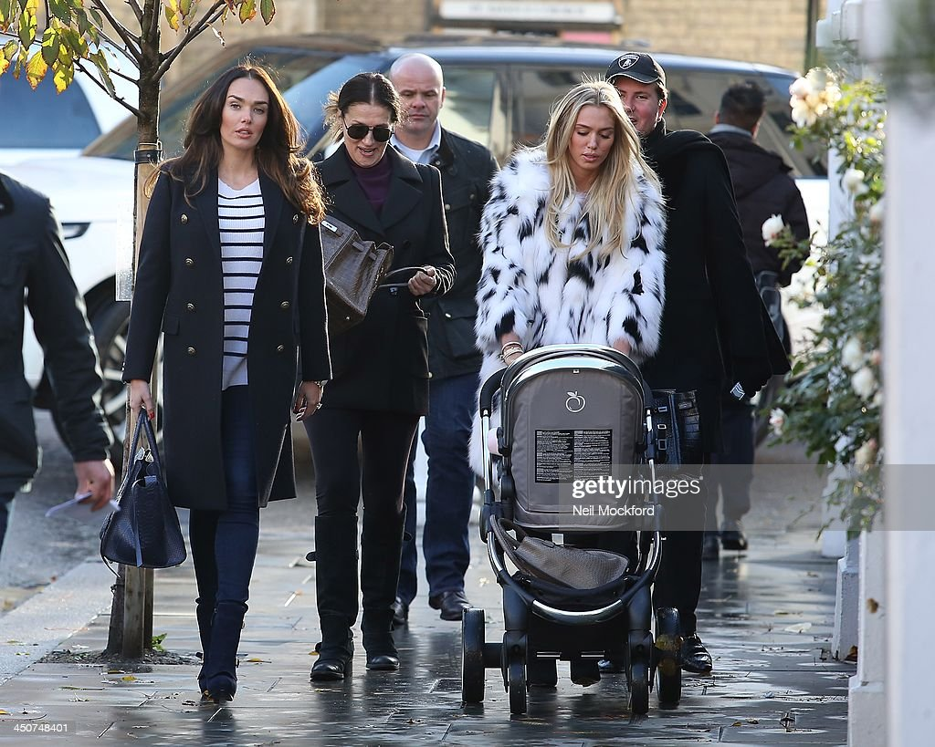 Tamara Ecclestone, Slavica Ecclestone and Petra Ecclestone seen walking to Harrods on November 20, 2013 in London, England.
