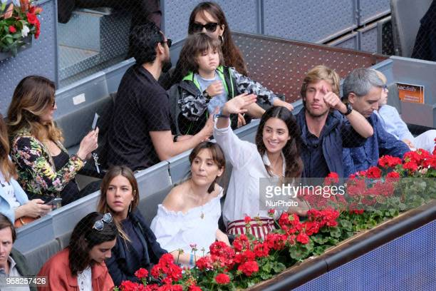 Tamara Falcó Alessandra de Osma and Christian de Hannover during day 9 of the Mutua Madrid Open tennis tournament at the Caja Magica in Madrid Spain...