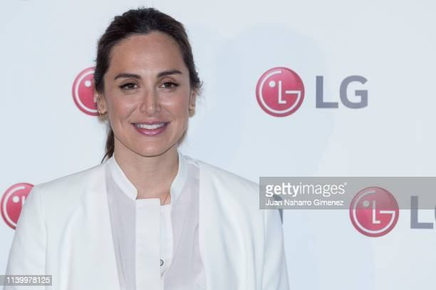 Tamara Falco attends a photocall during the LG charity delivery to Air Planet Project on April 02 2019 in Madrid Spain