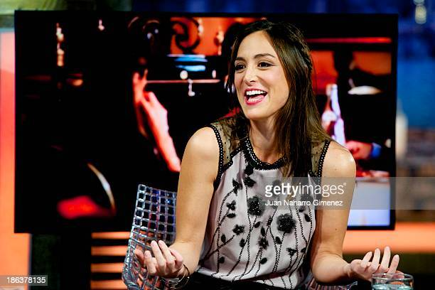 Tamara Falco attends 'El Hormiguero' TV show at Vertice 360 Studio on October 30 2013 in Madrid Spain