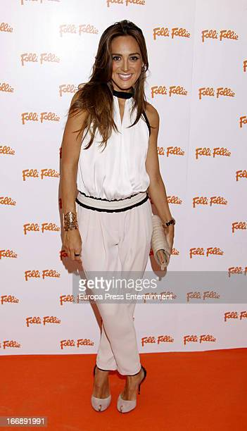 Tamara Falco attends Folli Follie photocall on April 17 2013 in Madrid Spain