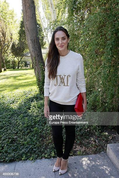 Tamara Falco attends Jorge Vazquez Catwalk at French Ambassador Residence on September 11 2014 in Madrid Spain
