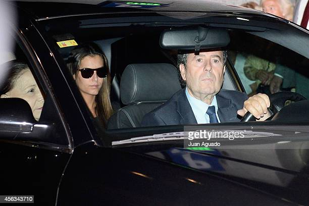 Tamara Falco attends Parque San Isidro Cemetery following the death of Miguel Boyer on September 29 2014 in Madrid Spain Spanish politician Miguel...