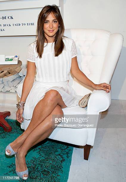 Tamara Falco inaugurates Tommy Hilfiger Pop Up Store at Felipe II Square on June 24 2011 in Madrid Spain