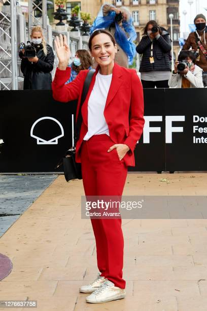 Tamara Falco is seen arriving at Maria Cristina hotel during 68th San Sebastian International Film Festival on September 25 2020 in San Sebastian...