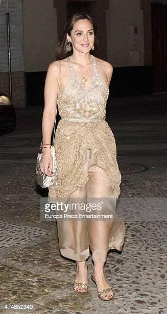 Tamara Falco is seen at Casa Palacio Salinas on April 18 2015 in Seville Spai