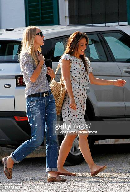 Tamara Falco is seen leaving a spirituality center on July 26 2013 in Ibiza Spain