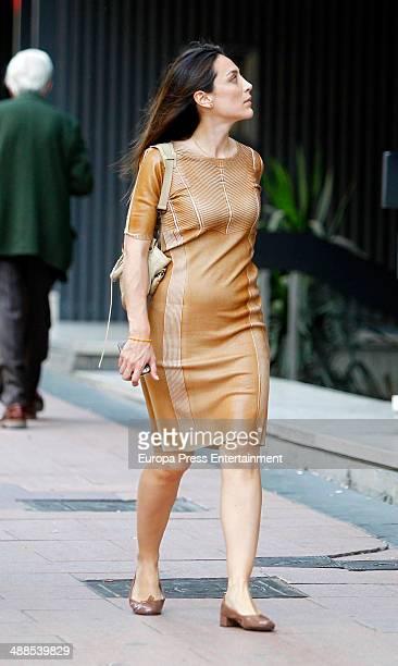 Tamara Falco is seen on April 11 2014 in Madrid Spain