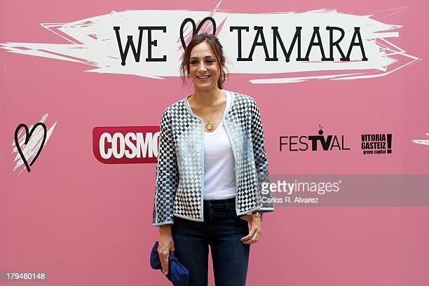 Tamara Falco presents the 'We Love Tamara' new television show during the day three of 5th FesTVal Television Festival 2013 at the Villa Suso Palace...