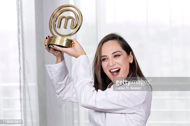Tamara Falco the winner of TV's MasterChef Celebrity 2019 poses for a photo session at Hotel Eurobuilding on November 28 2019 in Madrid Spain