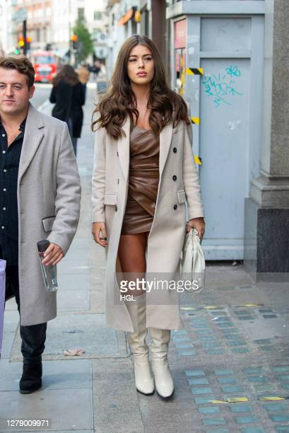 Tamara Francesconi leaving the Nasty Gal FT. Emrata collection launch at Busi Cafe on October 07, 2020 in London, England.