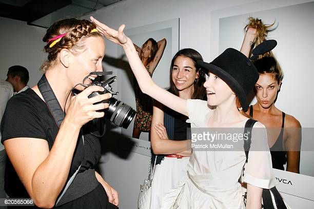 Tamara G and Julia Frakes attend ERIN WASSON PM TENORE present the launch of ERIN WASSON X RVCA at 90 Ludlow Street on September 4 2008 in New York...