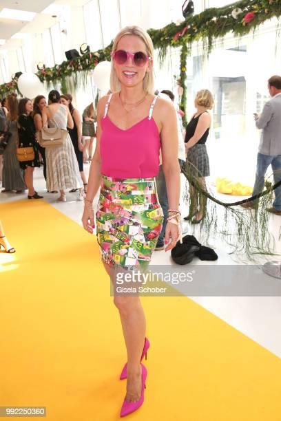 Tamara Graefin von Nayhauss attends The Fashion Hub during the Berlin Fashion Week Spring/Summer 2019 at Ellington Hotel on July 5 2018 in Berlin...