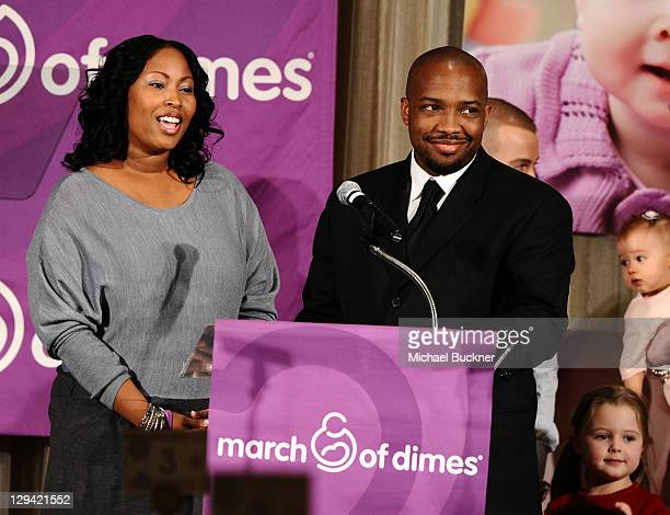 Tamara Harper and chef Rock Harper attend the March of Dimes Foundation Samantha Harris Host 5th Annual Celebration of Babies Luncheon held at the...