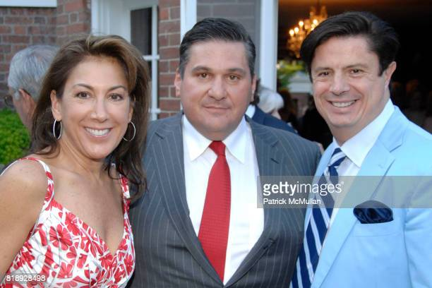 Tamara Holliday Al Lhota and Jean Doyen De Montaylou attend Sachiko Goodman Hosts the Annual BRUCE MUSEUM PATRON PARTY at Private Residence on May 20...