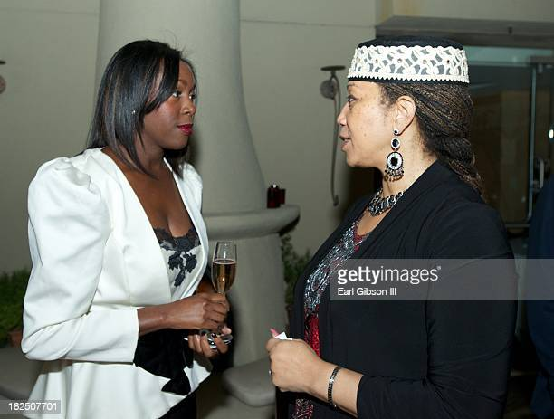 Tamara Houston and Attallah Shabazz attend the ICON MANN PreOscar Power 30 Dinner at L'Ermitage Beverly Hills Hotel on February 23 2013 in Beverly...