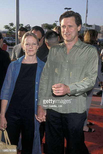 Tamara Hurwitz and Bill Pullman during 'Titan AE' Los Angeles Premiere at Staples Center in Los Angeles California United States