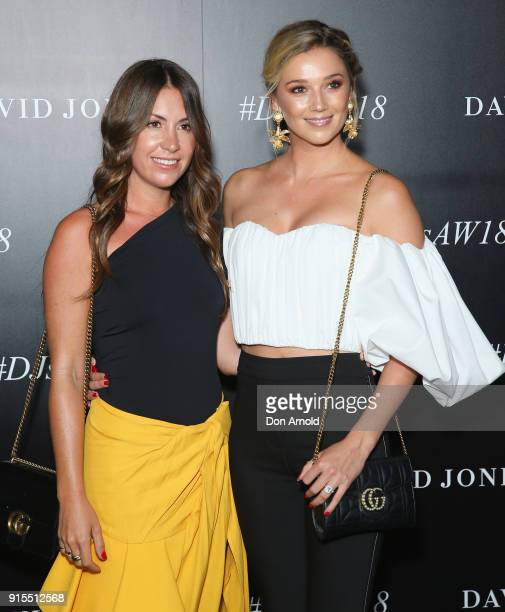 Tamara Ingham and Jasmine Yarbrough arrive ahead of the David Jones Autumn Winter 2018 Collections Launch at Australian Technology Park on February 7...