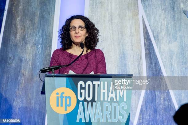 Tamara Jenkins speaks onstage during IFP's 27th Annual Gotham Independent Film Awards at Cipriani Wall Street on November 27 2017 in New York City